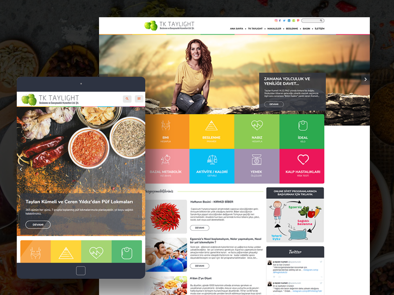 Taylan Kumeli diet dietitian food green onepage fullwidth webdesign web white clean responsive