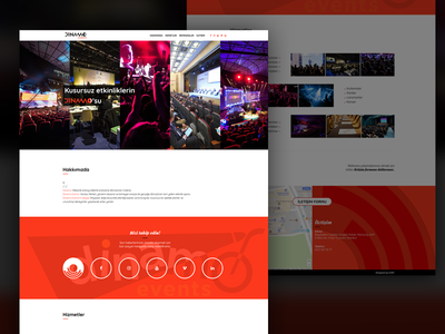 Dinamo Events events black red onepage fullwidth webdesign web white clean responsive
