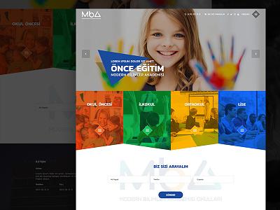 MBA Schools okullar okul schools school fullwidth webdesign web white clean responsive
