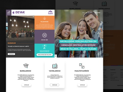 DEVAK web webdesign fullwidth white clean responsive okul school dernek association
