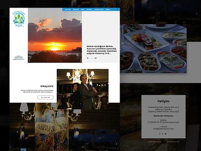 Kalamis incir webdesign blue fullwidth food and drink yemek icki drink food web white clean responsive