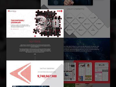 Komtera design black red onepage fullwidth webdesign web white clean responsive
