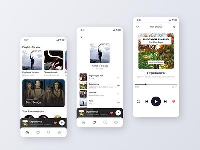 Music Player App song clean music app player minimal app design playlist music player music ui mobile app design