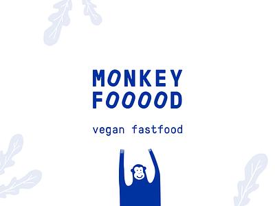MonkeyFood | Vegan fastfood vector logo behance online store health meals website fastfood food minimal colors ui branding design ux web clean vegan