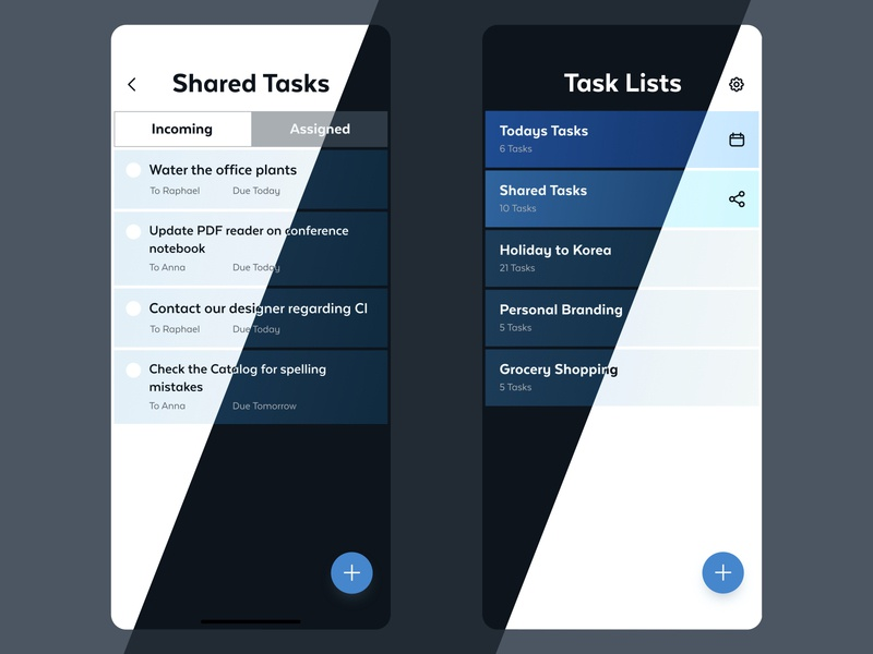 Todo List App ui design dark mode light theme dark theme todo todolist productivity app todo app
