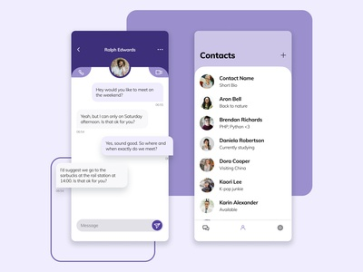Messenger app app design uidesign contacts chatting chatting app chat messenger app messenger