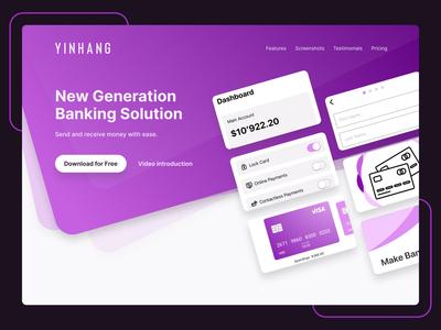 Banking App Landing Page webdesig ui design landing page banking website banking app banking
