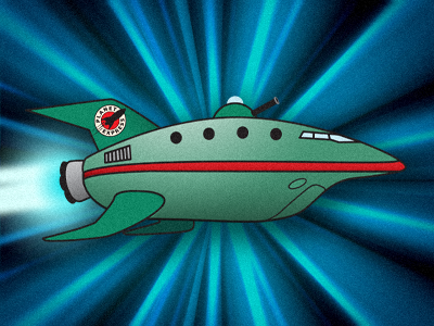 Our crew is replaceable. Your package isn't. futurama planet express opaque abt