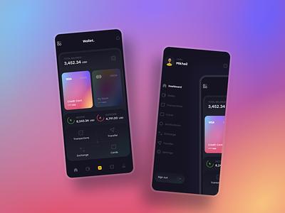 Wallet App 2 wallet ui wallet app wallet app figma design mirxvali clean ui interface ux ui clean design clean