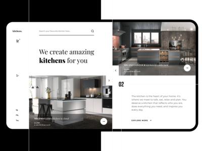 Practice #1 - Kitchens shop main page