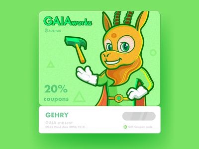 GAIA Coupon code with mascot:antelope antelope mascot code coupon