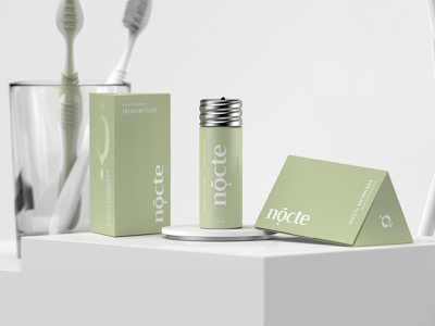 Nocte kapor brand design logo packaging dental clinic dental care dental logo dental cosmetic logo cosmetic packaging cosmetics hunapstudio hunap