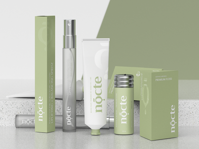 Nocte cosmetic cosmetics identity minimal clean logo design hunapstudio render brand design packaging brand nocte