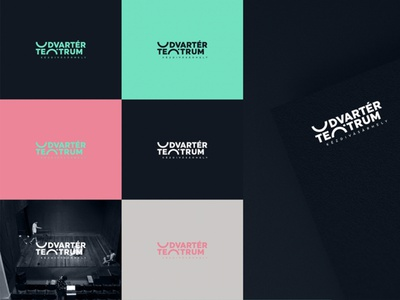 Udvartér teátrum - Theater visual identity - Trasylvania wordmark logo theater design theater theathre identity minimal brand design hunapstudio hunap