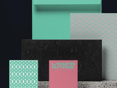 Udvartér teátrum - Theater visual identity - Trasylvania colors surface pattern green theater design theater clean brand design logo hunapstudio hunap