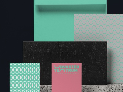 Udvartér teátrum - Theater visual identity - Trasylvania colors surface pattern green theater design theater clean brand design logo hunapstudio hunap