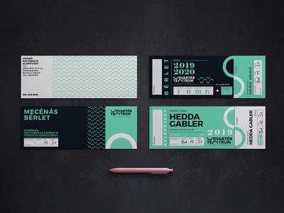 Udvartér teátrum - Theater visual identity - Trasylvania szinhaz bérlet clean entrance theater branding professional minimal ticket graphic ticket brand design logo hunapstudio hunap