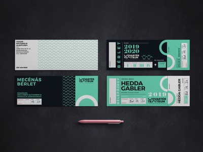 Udvartér teátrum - Theater visual identity - Trasylvania szinhaz bérlet clean entrance theater branding professional minimal ticket graphic ticket brand design logo hunapstudio hunap