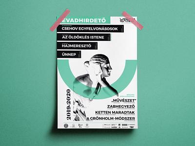 Udvartér teátrum - Theater visual identity - Trasylvania poster art poster design identity vector professional poster theater posters theater branding design logo hunapstudio hunap