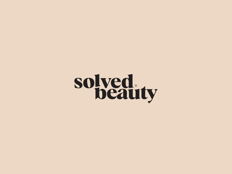 Solved Beauty logo logodesign logo design beauty logo logotype pastel beauty solved simple conditioner shampoo cosmetic wodmark clean minimal kapor brand design logo hunapstudio hunap
