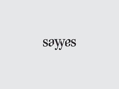Say Yes wordmark typogaphy black  white black emblem logo minimal clean kapor brand hunapstudio hunap say yes sayyes proposal wedding