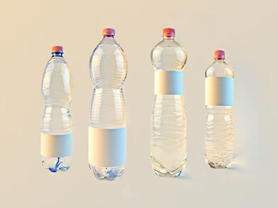 Water bottles mock-up water bottle drink food transparent photo render realistic label mineral