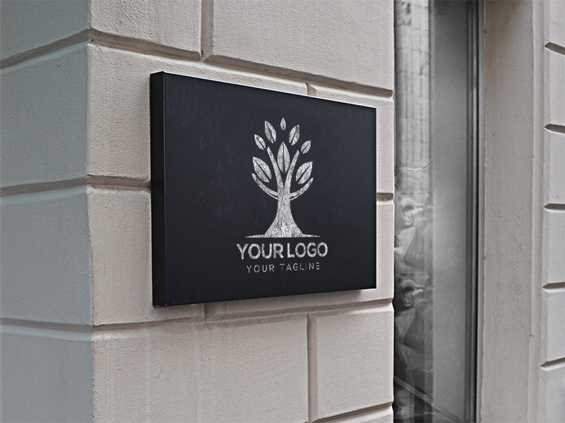 outdoor logo mock up by hunap studio dribbble