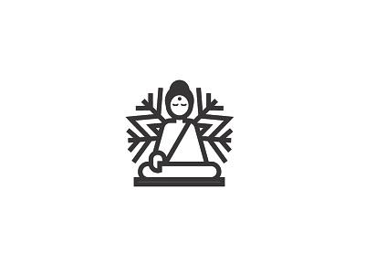SnowBuddha logo logo design kapor hunap hunapstudio studio professional pro clean minimal black emblem