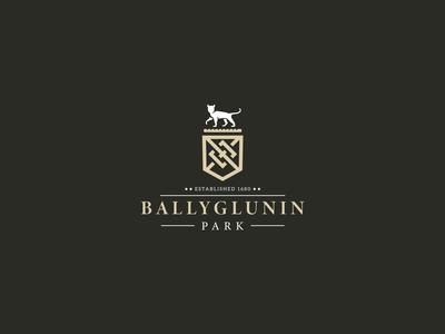 Bellyglunin park logo animal kapor black shield luxury design emblem luxury elegant castle design logo hunapstudio hunap