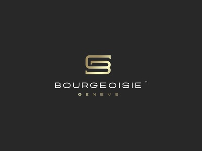 Bourgeoisie Fashion Logo bgletters gletter bletter combination emblem design capitals gold fashion letters bg kapor hunapstudio hunap