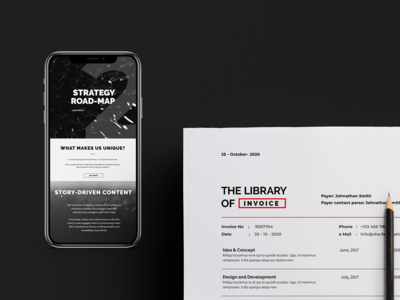 The Library Of graphic studio professional identity minimal clean kapor brand design logo hunapstudio hunap
