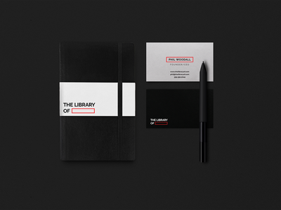 The Library Of illustration studio black emblem professional identity minimal clean kapor brand design logo hunapstudio hunap