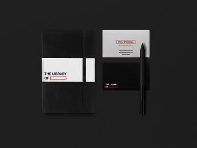 The Library Of illustration studio black emblem professional identity minimal clean kapor brand design logo hunapstudio hunap