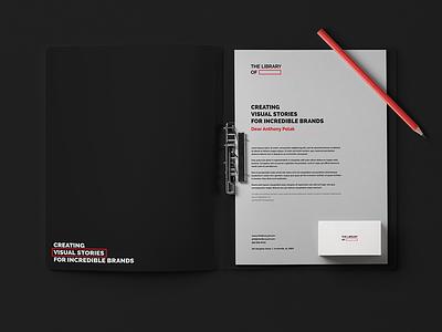 The Library Of graphic illustration studio black emblem professional identity minimal clean kapor brand design logo hunapstudio hunap