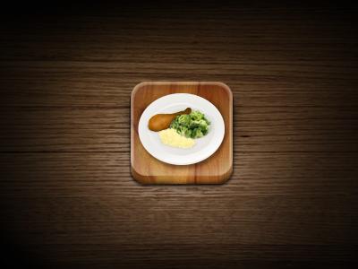iOS app icon ios icon iphone mobile app application food restaurant