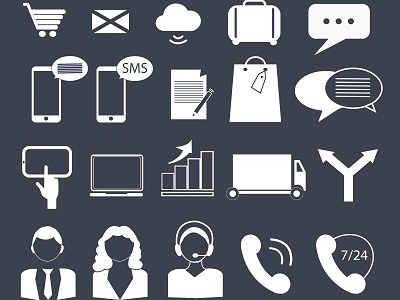 Business Finance And Contact Icons