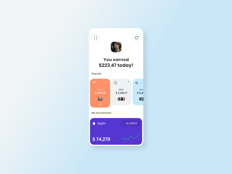 daily challenge app design ui