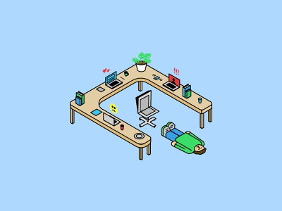Loving Yourself: Avoiding Burnout isometric vector illustration