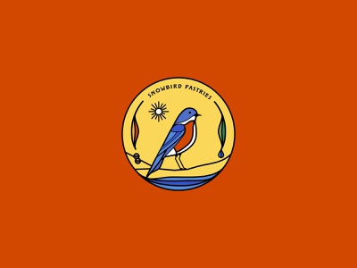 Snowbird Pastries identity illustration branding logo