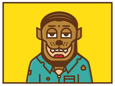 Happy Halloween halloween wolfman characters illustration