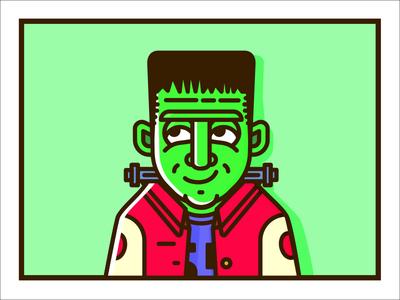 Frankie halloween frankenstein vector illustration