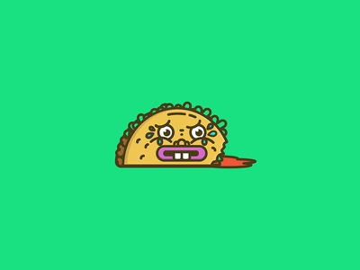 Dumb Taco vector killer taco dead taco illustration taco