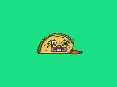 Dumb Taco vector killer taco dead taco illustration taco