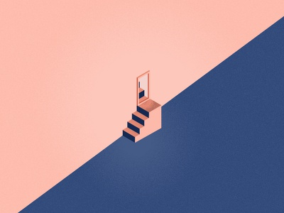 Steps editorial steps illustration