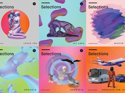 Selections Covers collage design