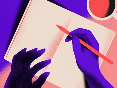 Writing essays blog writing hands design edpuzzle texture grain editorial illustration