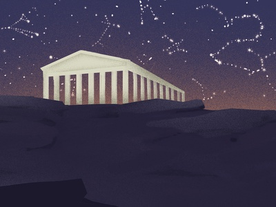 Ancient Greece vector gradients ancient greece illustration wip