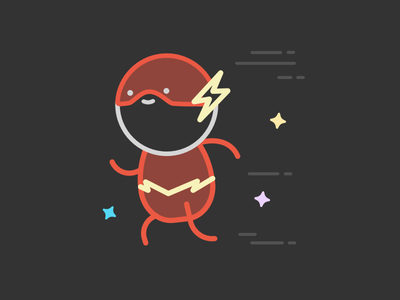 Look out, Flash! ⚡️ common flash character design illustration wallapop