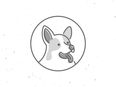 Dog corgi black and white opensource logo dog