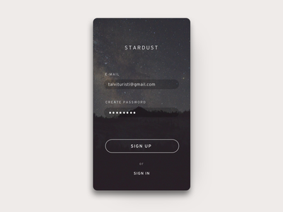 DailyUI #001 Sign Up 001 dailyui sign up